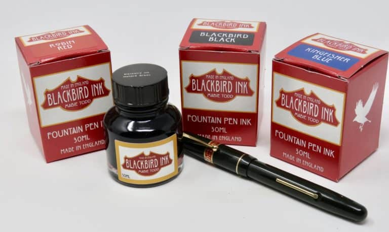 Blackbird ink fountain pen ink Mabie Todd ink art